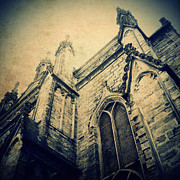 Scruffy Prints - Church Exterior 2 Print by Neil Overy