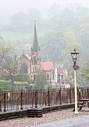 Cory Photography Prints - Church from Llangollen Station Print by Tom and Pat Cory