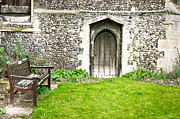 Medieval Entrance Posters - Church garden Poster by Tom Gowanlock