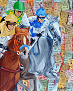 Kentucky Derby Mixed Media Prints - Church Hill Downs Print by Michael Lee