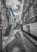 Port Town Framed Prints - Church Hill Port Isaac Framed Print by Chris Thaxter
