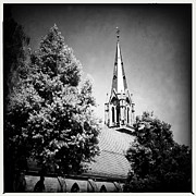 Trees Art - Church in black and white by Matthias Hauser