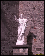 Catholic Church Posters - Church in Kilkenny Ireland Statue of Jesus Poster by Gary Grayson