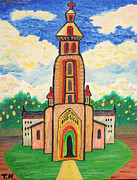 Orthodox Church Painting Acrylic Prints - Church In Paradoola Acrylic Print by Taikan Nishimoto