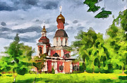 Siberia Digital Art - Church in the Woods by Yury Malkov