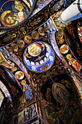 Serbian Prints - Church interior Print by Elena Elisseeva