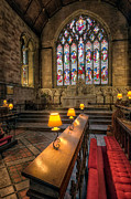Gold Leaf Prints - Church Lamps Print by Adrian Evans