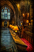 Oil Lamp Prints - Church Lights Print by Adrian Evans