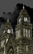 Sandstone Mixed Media - Church Lights on St. Peter Cathedral by Optical Playground By MP Ray