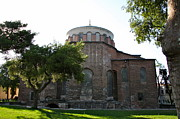 Byzantine Framed Prints - Church of Hagia Eirene - First Courtyard Topkapi Palace Framed Print by Christiane Schulze