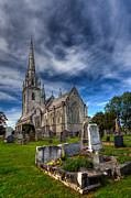 Cemetery Digital Art Prints - Church of Marble Print by Adrian Evans