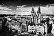 Town Square Framed Prints - Church of Our Lady Before Tyn / Prague Framed Print by Barry O Carroll