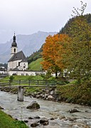 Germany Photo Originals - Church of Ramsau by Matt MacMillan