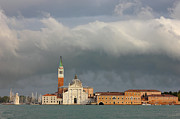 Belltower Posters - Church of San Giorgio Maggiore after the storm Poster by Kiril Stanchev