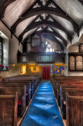 Glass Digital Art Prints - Church of St Mary Print by Adrian Evans