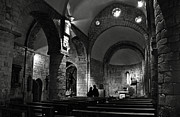 Assumption Posters - Church of the Assumption of Mary in Bossos - BW Poster by RicardMN Photography