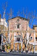 Bare Trees Posters - Church of The Capuchin Monks In Rome Poster by Mark E Tisdale