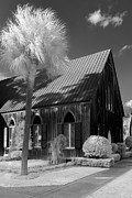 South Carolina Infrared Landscape Framed Prints - Church of the Cross 2 Framed Print by Bruce Siulinski
