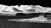 Shepherd Island Posters - Church of the Good Shepherd Lake Tekapo Poster by Maggie McCall