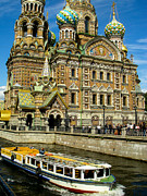 Onion Domes Photos - Church of the Resurection Saint Petersburg Russia by Robert Ford