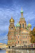 St Photo Framed Prints - Church of the Saviour on Spilled Blood. St. Petersburg. Russia Framed Print by Juli Scalzi