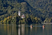 Bled Prints - Church on Lake Bled Island No. 2 Print by Joe Bonita