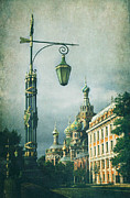 Church Pillars Framed Prints - Church on spilled blood Framed Print by Elena Nosyreva