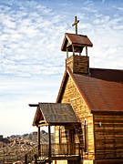 The Wooden Cross Photo Prints - Church on the Mount Print by Lee Craig