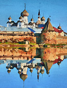 Siberia Digital Art - Church on the Water by Yury Malkov