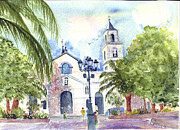 Townscapes Paintings - Church Square Torrevieja Spain by Jackie Curtis
