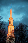 First Sunset Posters - Church Steeple Poster by Brian Jannsen