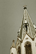 Wooden Building Prints - Church Steeple Print by Margie Hurwich