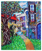 City Scape Paintings - Church Street Charleston Morning Light by Ricardo Of Charleston