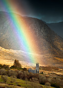 Derek Smyth Framed Prints - Church Under The Rainbow Framed Print by Derek Smyth