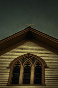 Wooden Building Prints - Church View Print by Margie Hurwich