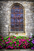 Stained Glass Windows Framed Prints - Church window in Brittany Framed Print by Elena Elisseeva
