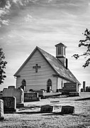 Dappled Light Photos - Churchyard BW by Heather Applegate