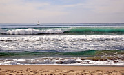 Susan Wiedmann Metal Prints - Churning Surf at Monterey Bay Metal Print by Susan Wiedmann