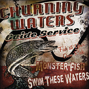 Swim Paintings - Churning Waters Sign by JQ Licensing