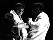 Heavyweights Prints - Chuvalo Gets Gloves Tied Print by Robert  Rodvik