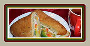 Sandwich Digital Art - Ciabatta Buns and Tea - Snack - Food - Kitchen by Barbara Griffin