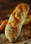 Italian Kitchen Posters - Ciabatta Poster by Dragica  Micki Fortuna
