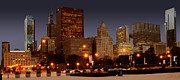Chicago Night Scene Posters - Cicago Poster by Jt PhotoDesign