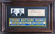 Bottle. Bottling Painting Posters - Cicero Bottling Works Chicago Brewing Poster by Kurt Olson