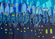 Cidade A Noite Print by Greg Mason Burns