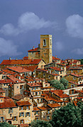 Tower Prints - Cielo A Pecorelle Print by Guido Borelli