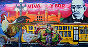 Ybor City Framed Prints - Cigar City Street Mural Framed Print by David Lee Thompson