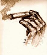 Cigar Print by Dallas Roquemore