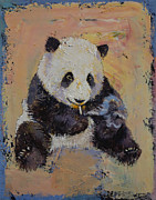 Giant Panda Posters - Cigarette Break Poster by Michael Creese