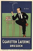 Belle Epoque Framed Prints - Cigaretten Laferme Dresden Framed Print by Sanely Great